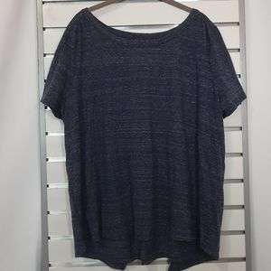 Dark blue top with open back